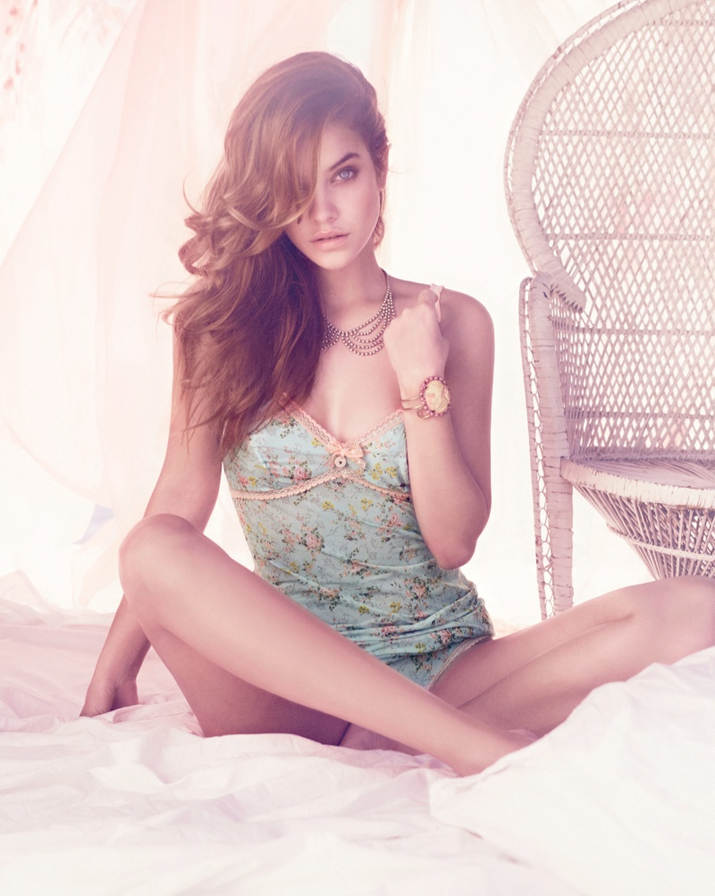 barbara palvin twin set lingerie6 Barbara Palvin Stuns in Twin Set Lingerie Spring 2014 Campaign