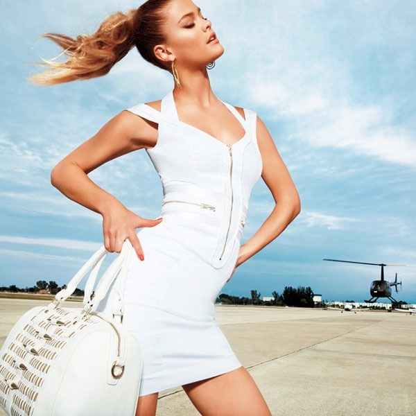 Nina Agdal Sizzles for Bebe Spring/Summer 2014 Campaign