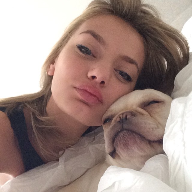 bregje dog Instagram Photos of the Week | Anne V, Naomi Campell, Magdalena Frackowiak+ More Models