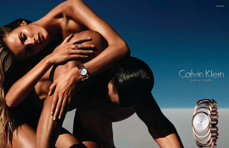 calvin klein jewelry watches spring campaign2 Edita Vilkeviciute Sizzles in Calvin Klein Watches Spring 2014 Campaign