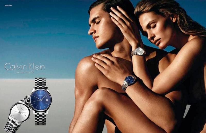 Edita Vilkeviciute Sizzles in Calvin Klein Watches Spring 2014 Campaign
