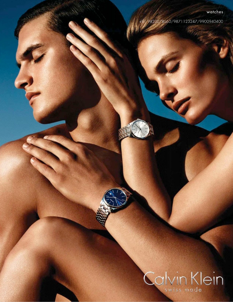calvin klein jewelry watches spring campaign5 Edita Vilkeviciute Sizzles in Calvin Klein Watches Spring 2014 Campaign