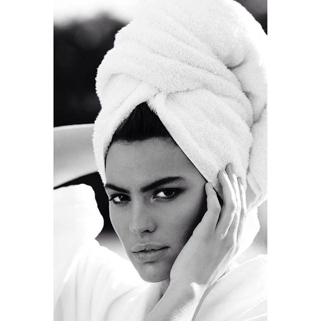 Cameron Russell poses in a close-up shot. Photo: Instagram/mariotestino