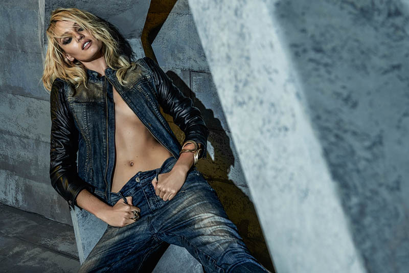 candice forum denim1 Candice Swanepoel is Hot (as Usual) in FORUMs Winter 2014 Campaign