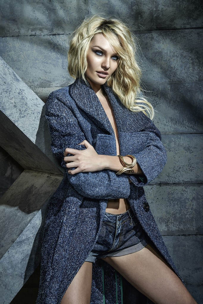 candice forum denim7 Candice Swanepoel is Hot (as Usual) in FORUMs Winter 2014 Campaign