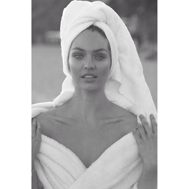 Candice Swanepoel looks beautiful in black and white. Photo: Instagram/mariotestino