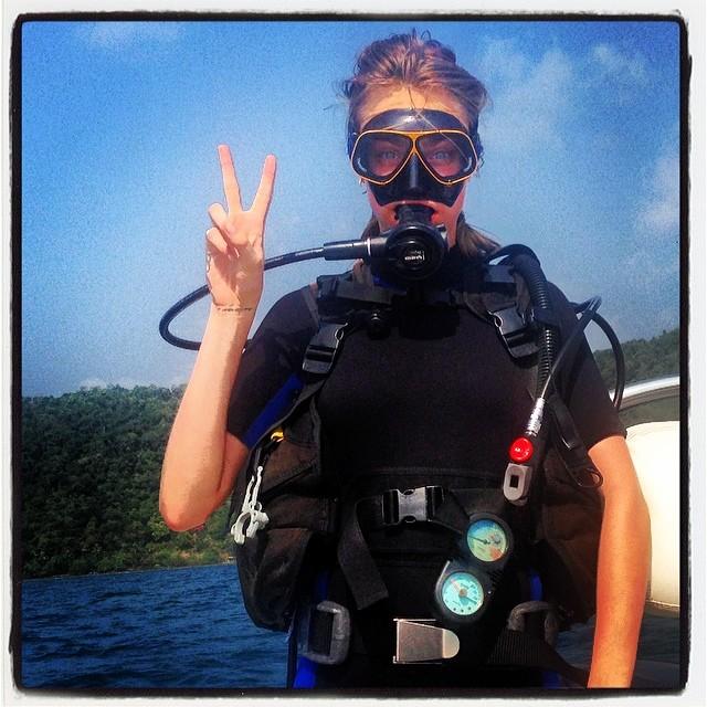 Celebrity scuba diving