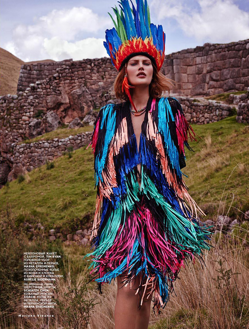 Catherine McNeil Heads to Peru for Vogue Russia by Mariano Vivanco