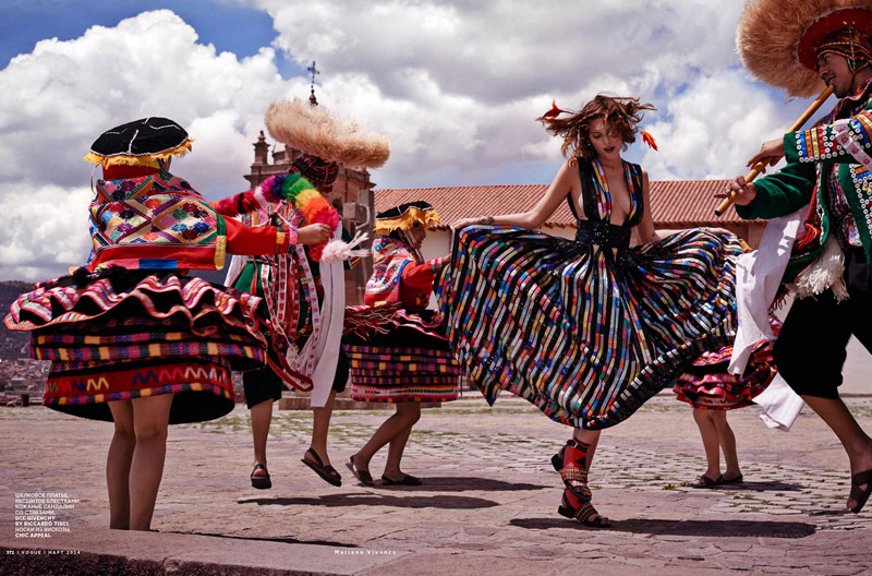 catherine mcneil photo shoot5 Catherine McNeil Heads to Peru for Vogue Russia by Mariano Vivanco