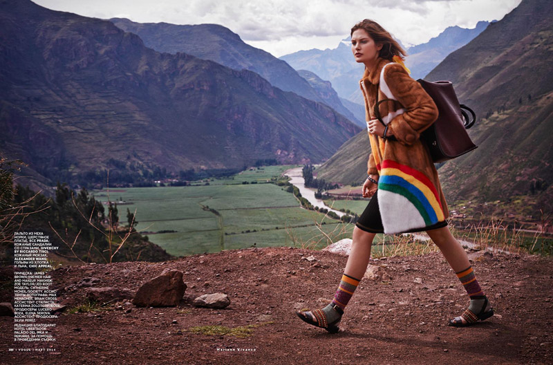catherine mcneil photo shoot8 Catherine McNeil Heads to Peru for Vogue Russia by Mariano Vivanco