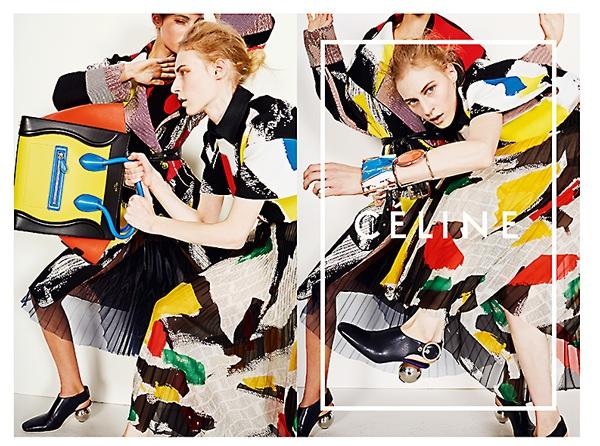 celine spring 2014 campaign1 Daria Werbowy, Julia Nobis Pose for Celines Spring 2014 Ads
