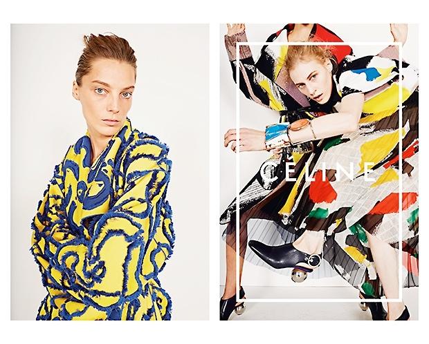 celine spring 2014 campaign2 Daria Werbowy, Julia Nobis Pose for Celines Spring 2014 Ads