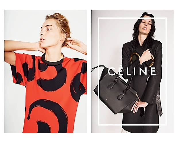 celine spring 2014 campaign3 Daria Werbowy, Julia Nobis Pose for Celines Spring 2014 Ads