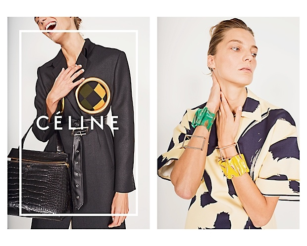 celine spring 2014 campaign4 Daria Werbowy, Julia Nobis Pose for Celines Spring 2014 Ads