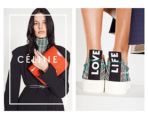 celine spring 2014 campaign5 Daria Werbowy, Julia Nobis Pose for Celines Spring 2014 Ads