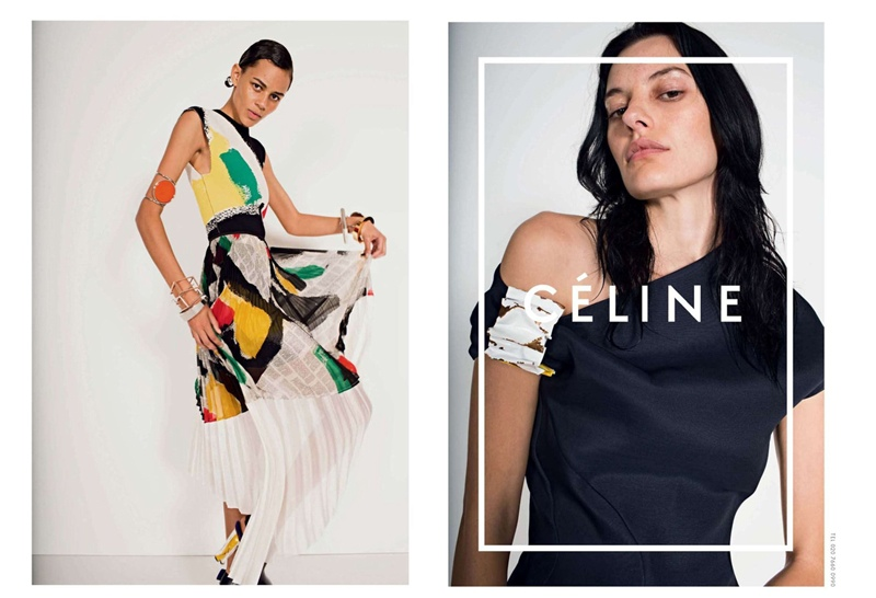 celine spring 2014 campaign6 Daria Werbowy, Julia Nobis Pose for Celines Spring 2014 Ads
