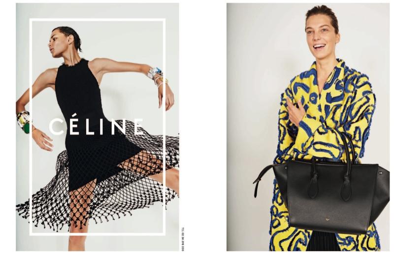 celine spring 2014 campaign7 Daria Werbowy, Julia Nobis Pose for Celines Spring 2014 Ads