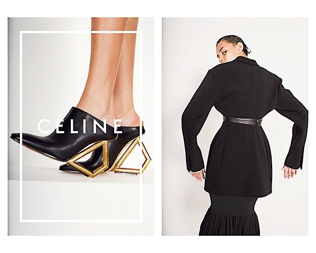 celine spring 2014 campaign9 Daria Werbowy, Julia Nobis Pose for Celines Spring 2014 Ads