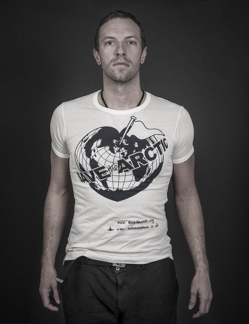 chris martin Vivienne Westwood Enlists Georgia May, Jerry Hall + More for 'Save the Arctic' Campaign