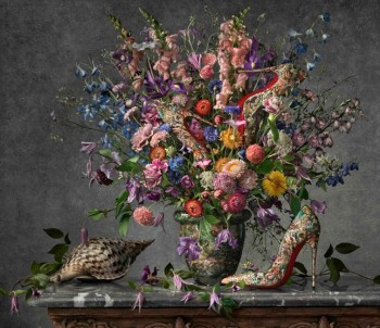 Shoe Art: Christian Louboutin's Painted Spring 2014 Campaign