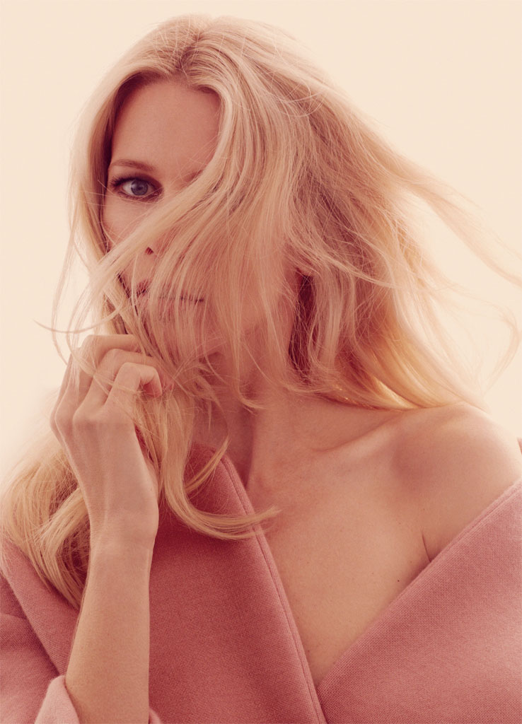 claudia schiffer david roemer1 Claudia Schiffer Enchants for David Roemer in Marie Claire UK