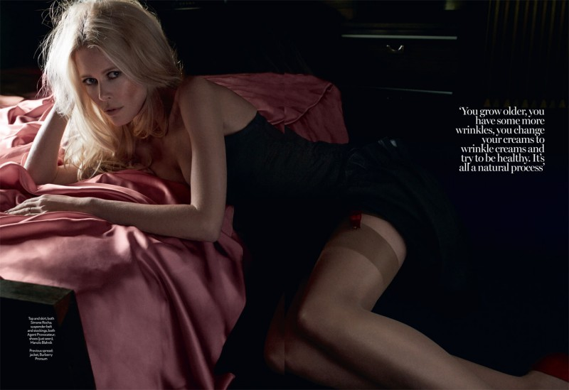 claudia schiffer david roemer2 800x549 Claudia Schiffer Enchants for David Roemer in Marie Claire UK