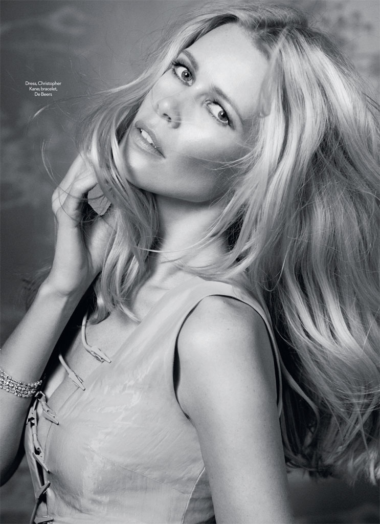 claudia schiffer david roemer3 Claudia Schiffer Enchants for David Roemer in Marie Claire UK