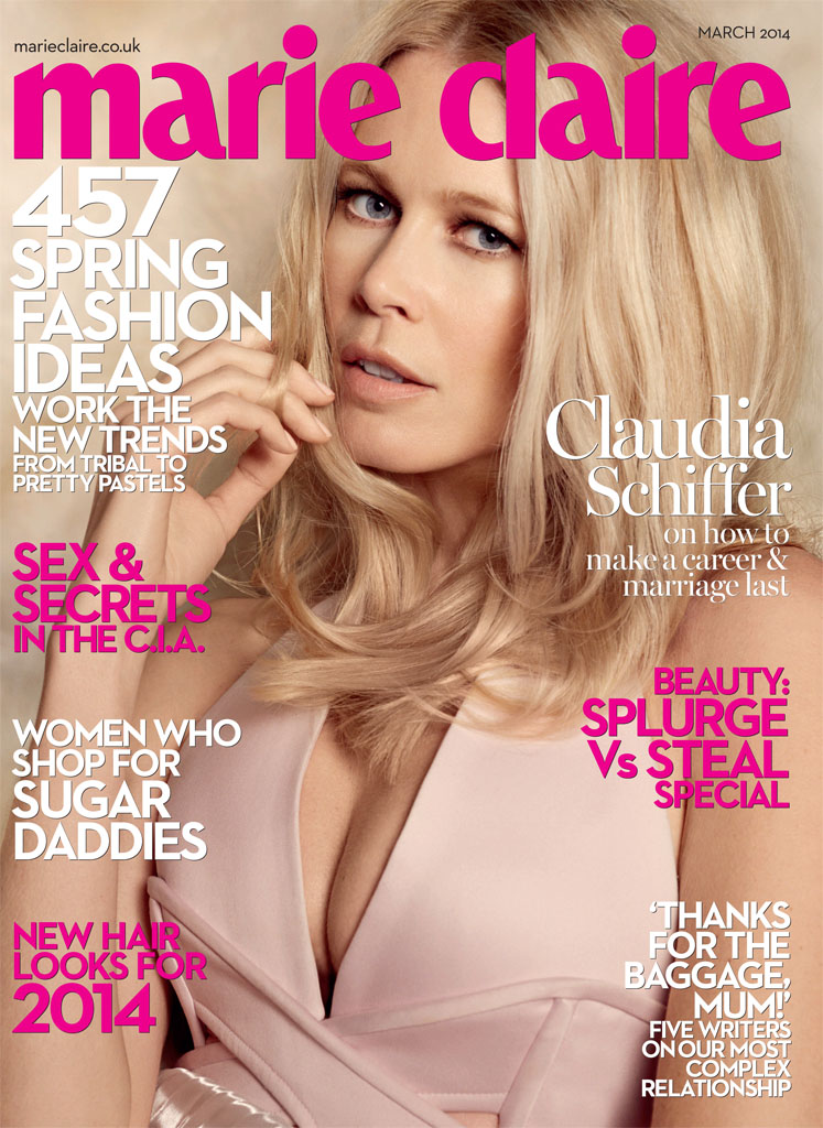 Claudia Schiffer Enchants for David Roemer in Marie Claire UK