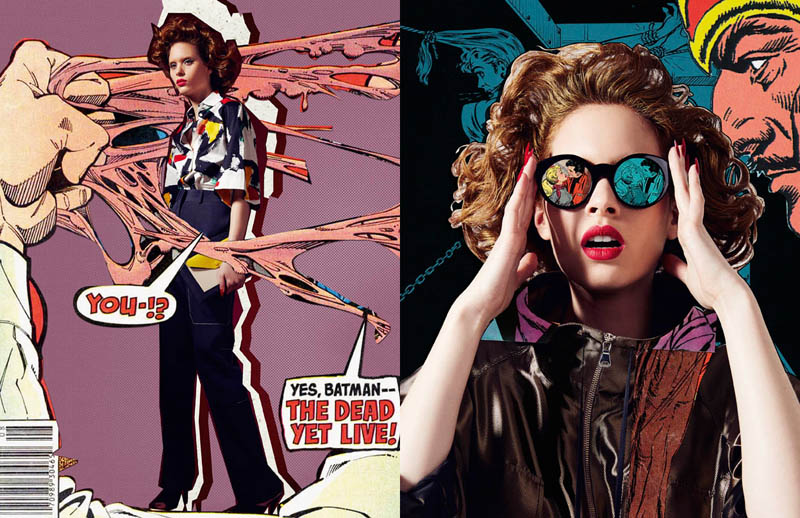 comic book style2 Ahmet Unver Captures 50s Comic Strip Style for LOfficiel Turkey