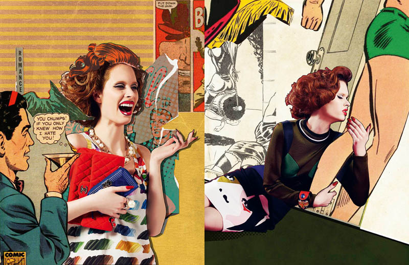 comic book style3 Ahmet Unver Captures 50s Comic Strip Style for LOfficiel Turkey