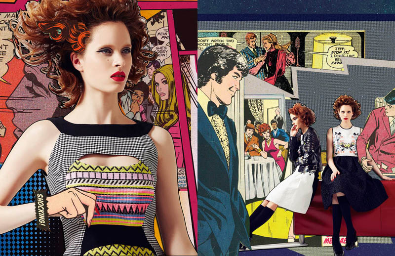 comic book style4 Ahmet Unver Captures 50s Comic Strip Style for LOfficiel Turkey