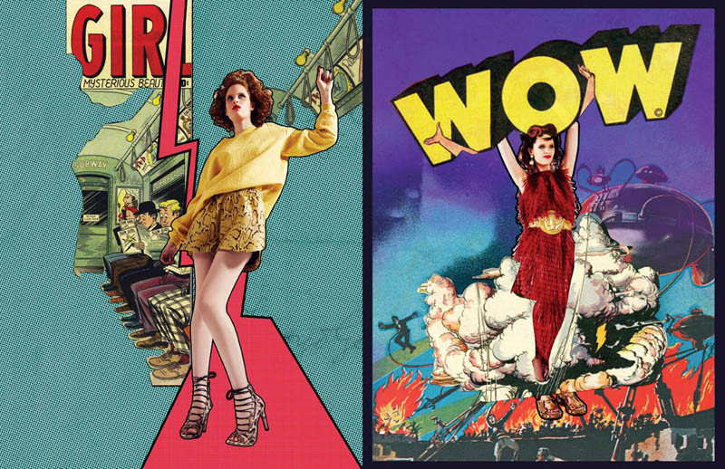 comic book style5 Ahmet Unver Captures 50s Comic Strip Style for LOfficiel Turkey