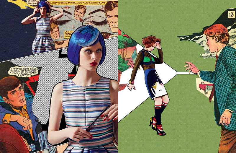 comic book style6 Ahmet Unver Captures 50s Comic Strip Style for LOfficiel Turkey