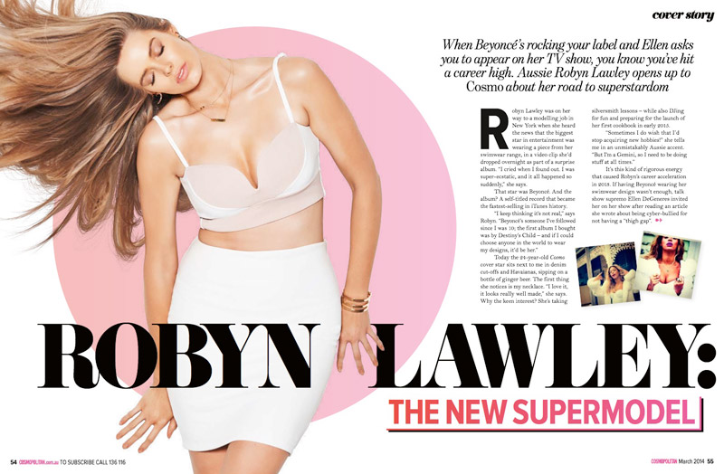 cosmo robyn lawley shoot Robyn Lawley Covers Cosmopolitan Australia, Says She Hates Term Plus Size