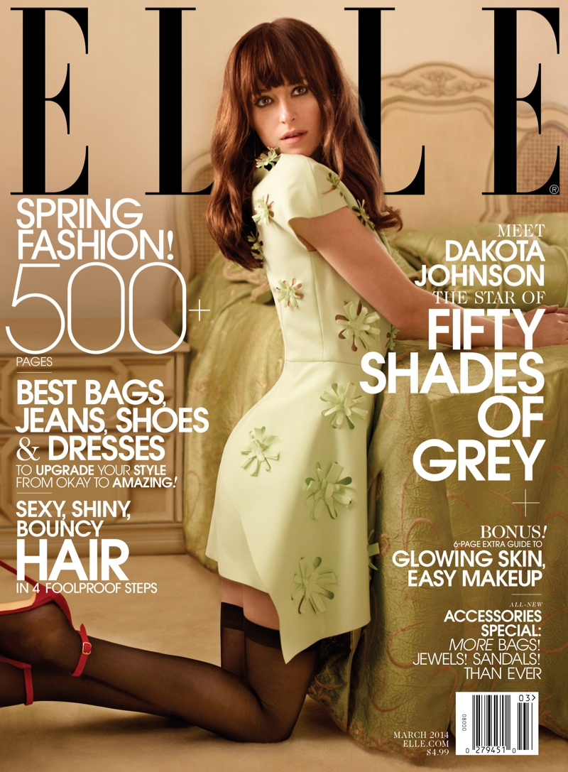dakota johnson photo shoot1 Dakota Johnson Lands ELLEs March 2014 Cover, Talks Fifty Shades of Grey