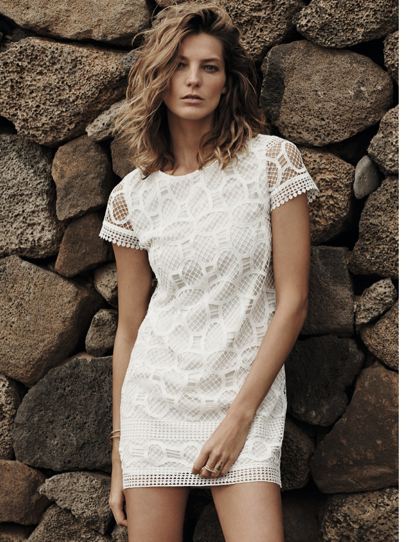 daria werbowy mango spring ad photos11 More Photos of Daria Werbowy for Mangos Spring 2014 Ads