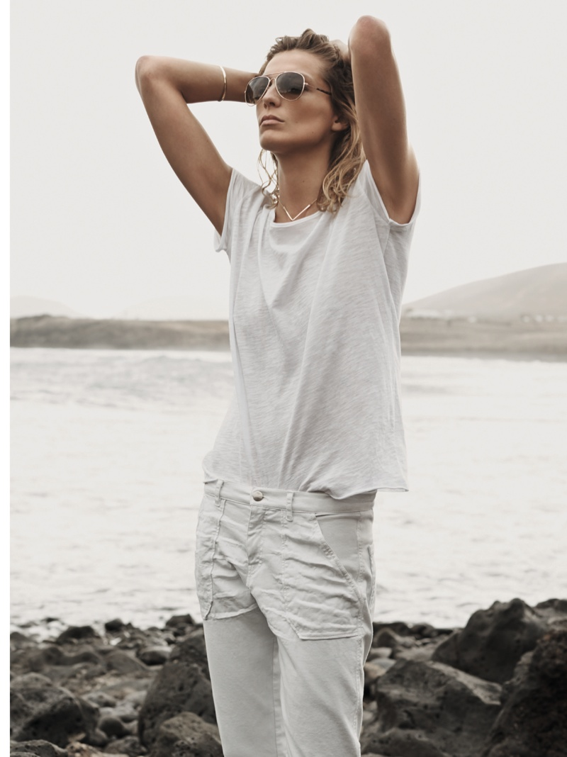 daria werbowy mango spring ad photos16 More Photos of Daria Werbowy for Mangos Spring 2014 Ads