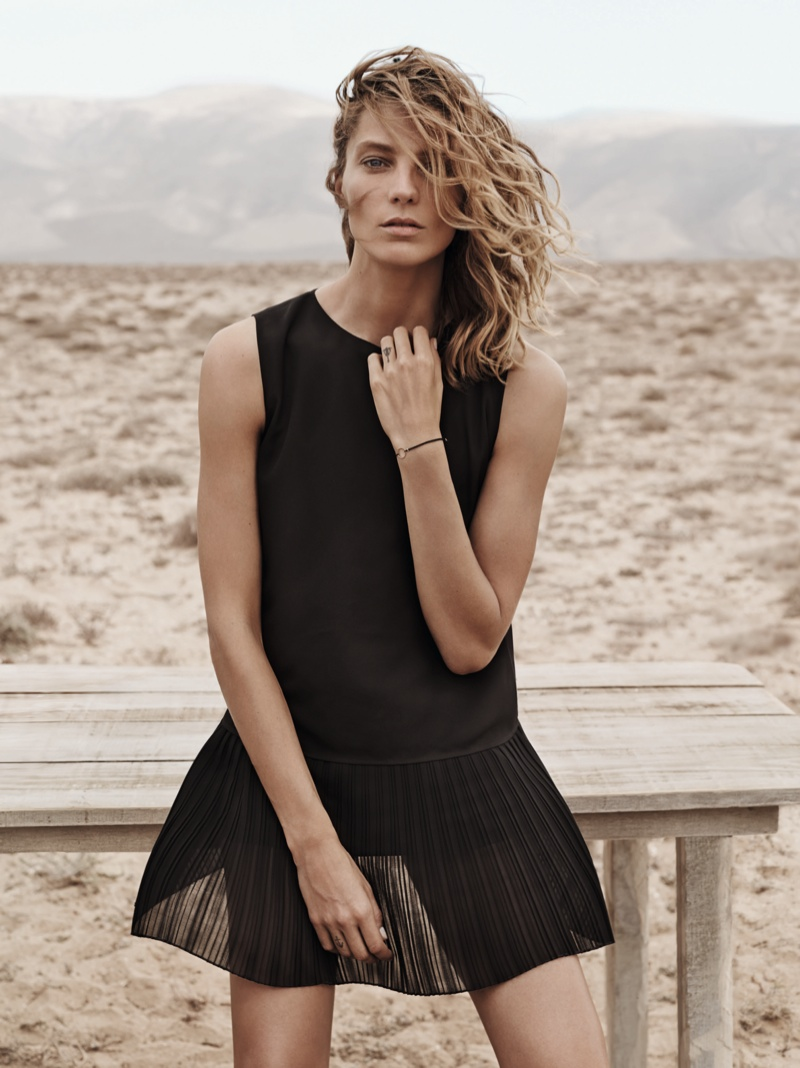 daria werbowy mango spring ad photos17 More Photos of Daria Werbowy for Mangos Spring 2014 Ads