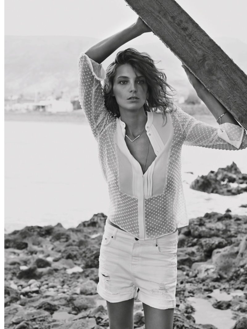 daria werbowy mango spring ad photos2 More Photos of Daria Werbowy for Mangos Spring 2014 Ads