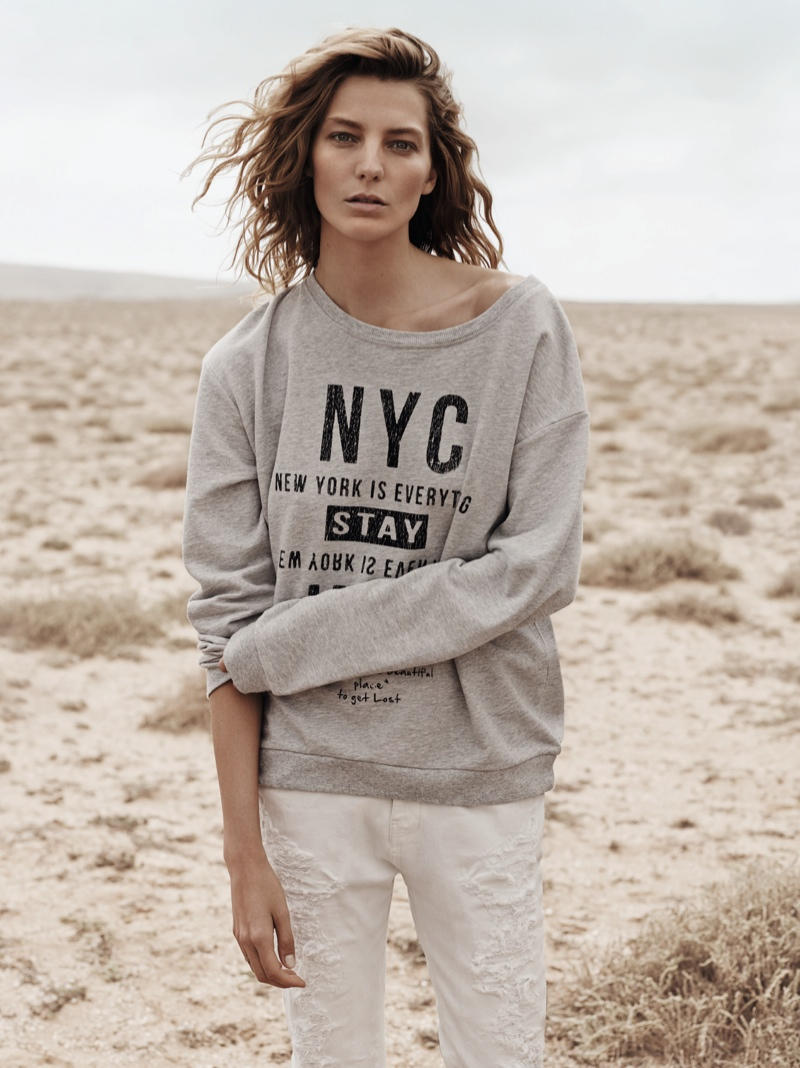 daria werbowy mango spring ad photos4 More Photos of Daria Werbowy for Mangos Spring 2014 Ads
