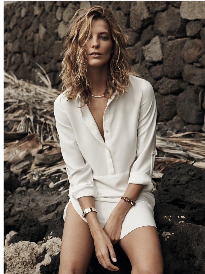 daria werbowy mango spring ad photos6 More Photos of Daria Werbowy for Mangos Spring 2014 Ads