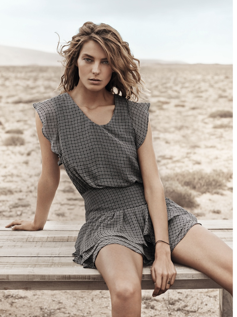 daria werbowy mango spring ad photos7 More Photos of Daria Werbowy for Mangos Spring 2014 Ads