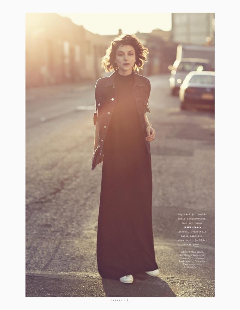 Ollie Henderson Models Denim for Justin Hollar in Trendi Magazine