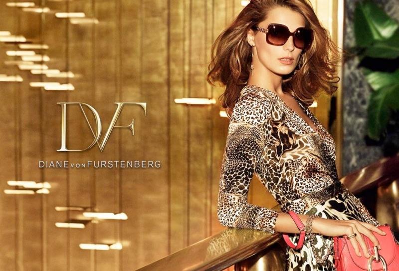 diane von furstenberg spring 2014 campaign1 Daria Werbowy Lands Diane von Furstenbergs Spring 2014 Campaign