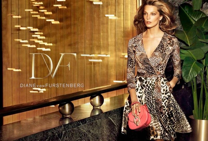diane von furstenberg spring 2014 campaign2 Daria Werbowy Lands Diane von Furstenbergs Spring 2014 Campaign