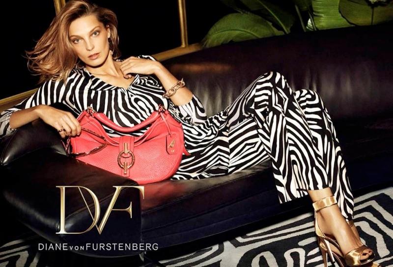 diane von furstenberg spring 2014 campaign3 Daria Werbowy Lands Diane von Furstenbergs Spring 2014 Campaign