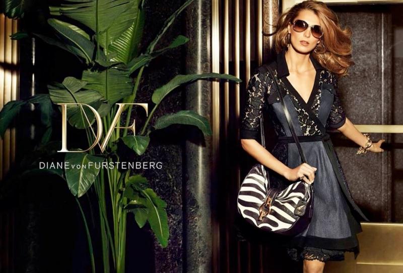 diane von furstenberg spring 2014 campaign5 Daria Werbowy Lands Diane von Furstenbergs Spring 2014 Campaign