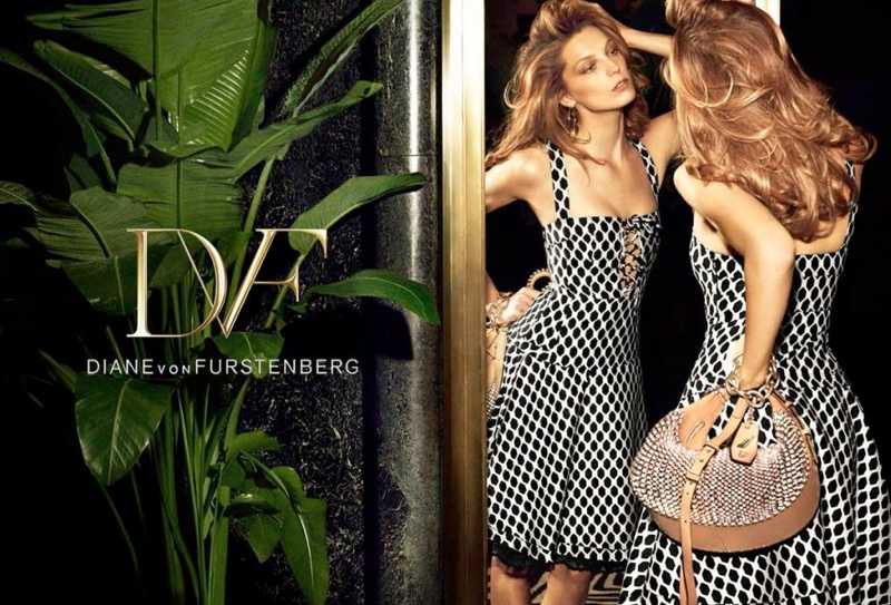 diane von furstenberg spring 2014 campaign7 Daria Werbowy Lands Diane von Furstenbergs Spring 2014 Campaign