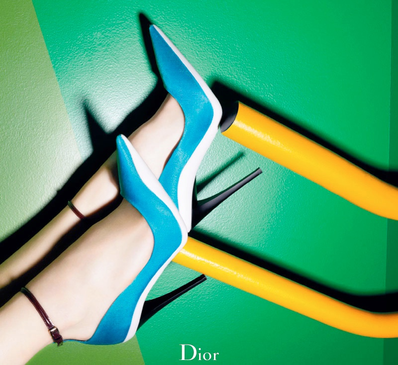 dior cruise 2014 shoes1 Shoe Spotting: Diors Colorful Cruise 2014 Pumps