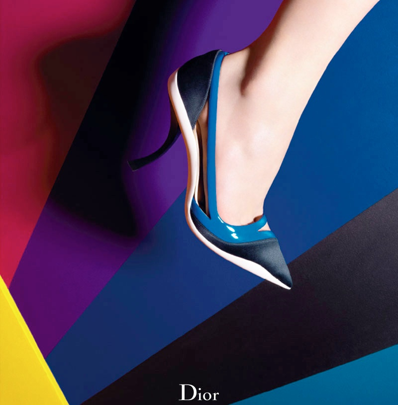 dior cruise 2014 shoes2 Shoe Spotting: Diors Colorful Cruise 2014 Pumps